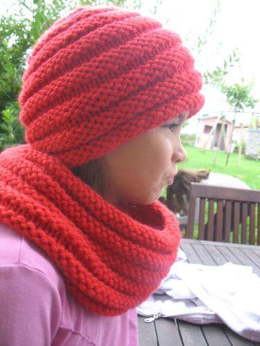 snood et bonnet point godron et bonnet slouchy   tricot   Pinterest ...