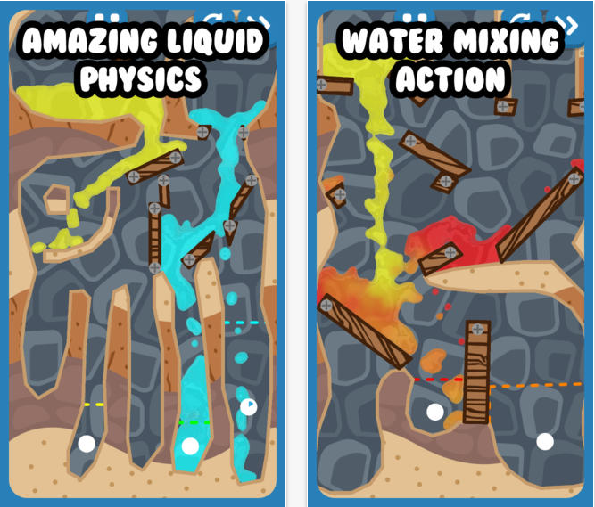 Mix It Up! – un puzzle game inedit pentru platforma iOS, conceput in stilul Where's My Water (Video)