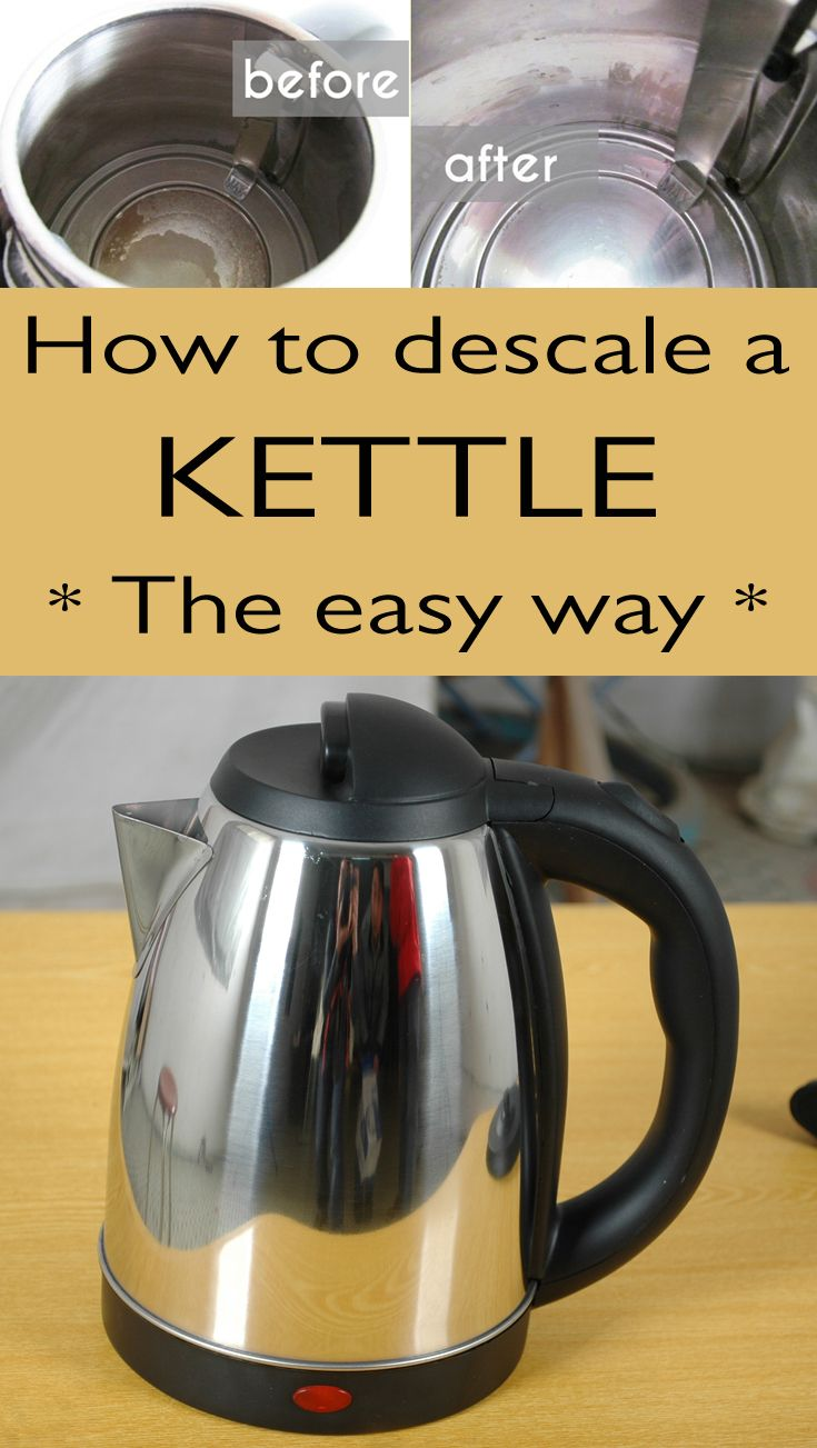How To Remove Limescale From Kettle >> How to descale a kettle the easy way | Clean kettle, Clean baking pans, Cleaning painted walls