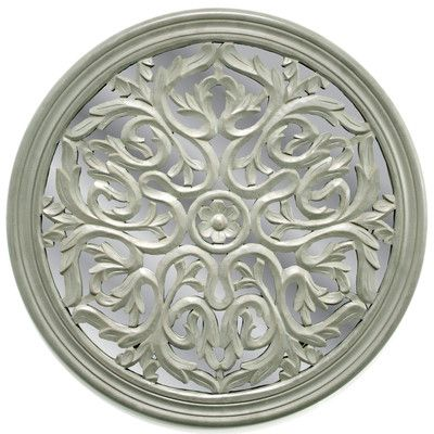 Fetco Home Decor Nikoli Mirrored Medallion Wall Decor | art/wall ...