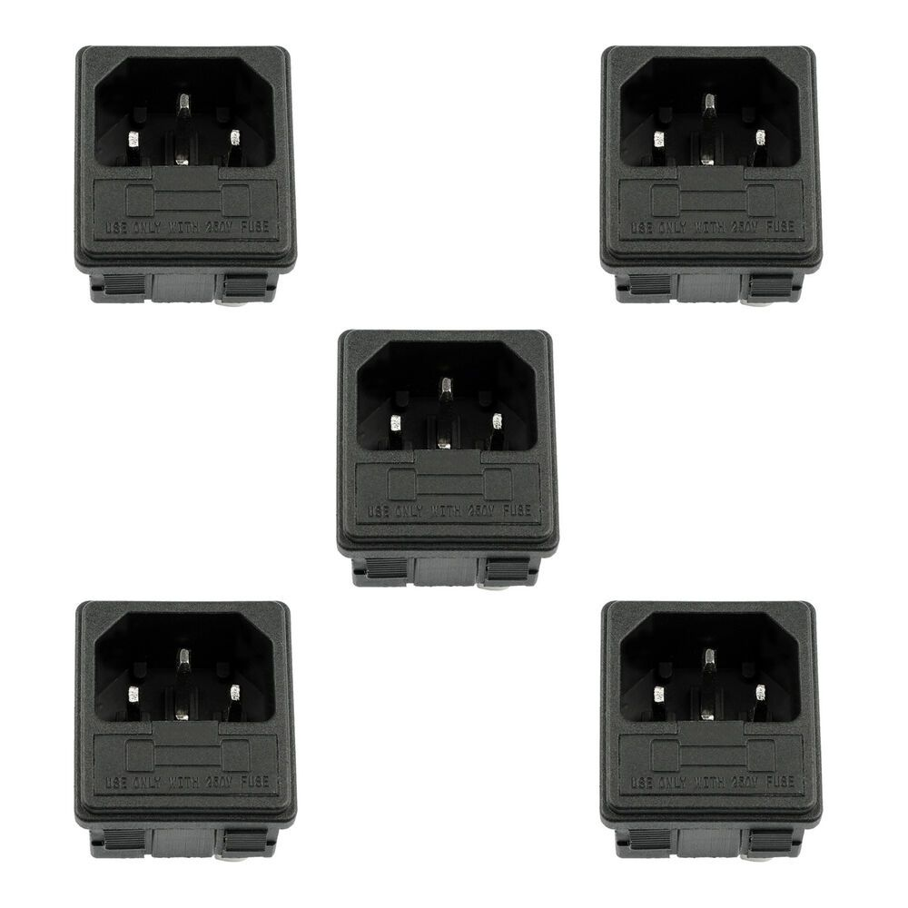 eBay #Sponsored 5PCS IEC320 C14 3 Pin Male Power Socket W ... on