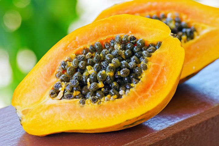 14 Mega Metabolism Boosters-Papaya  Papaya contains an enzyme called papain, which improves protein digestion and absorption, which is key to boosting metabolism and burning fat. Try incorporating this exotic superfood into your diet with this tasty salad recipe.