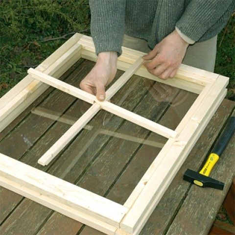 fabriquer fenetre cabane jardin