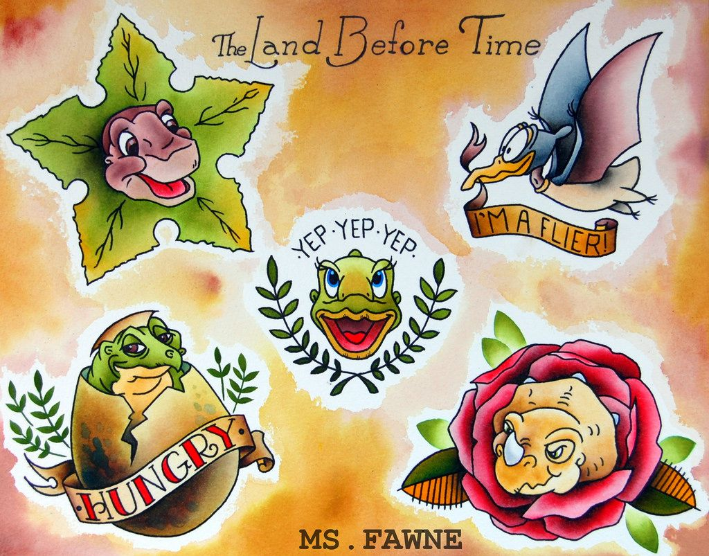 Land Before Time Tattoos The land before time tattoo | Tattoos ...