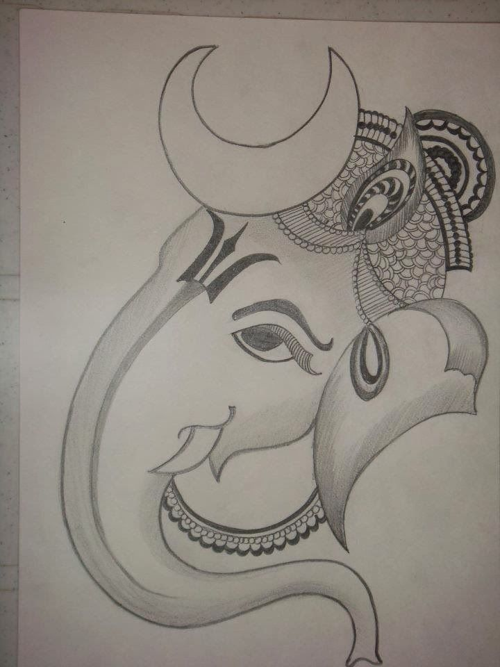 Pin By Ida Levstek On God Ganesha Drawing Art Drawings Sketches Simple Drawing Stencils