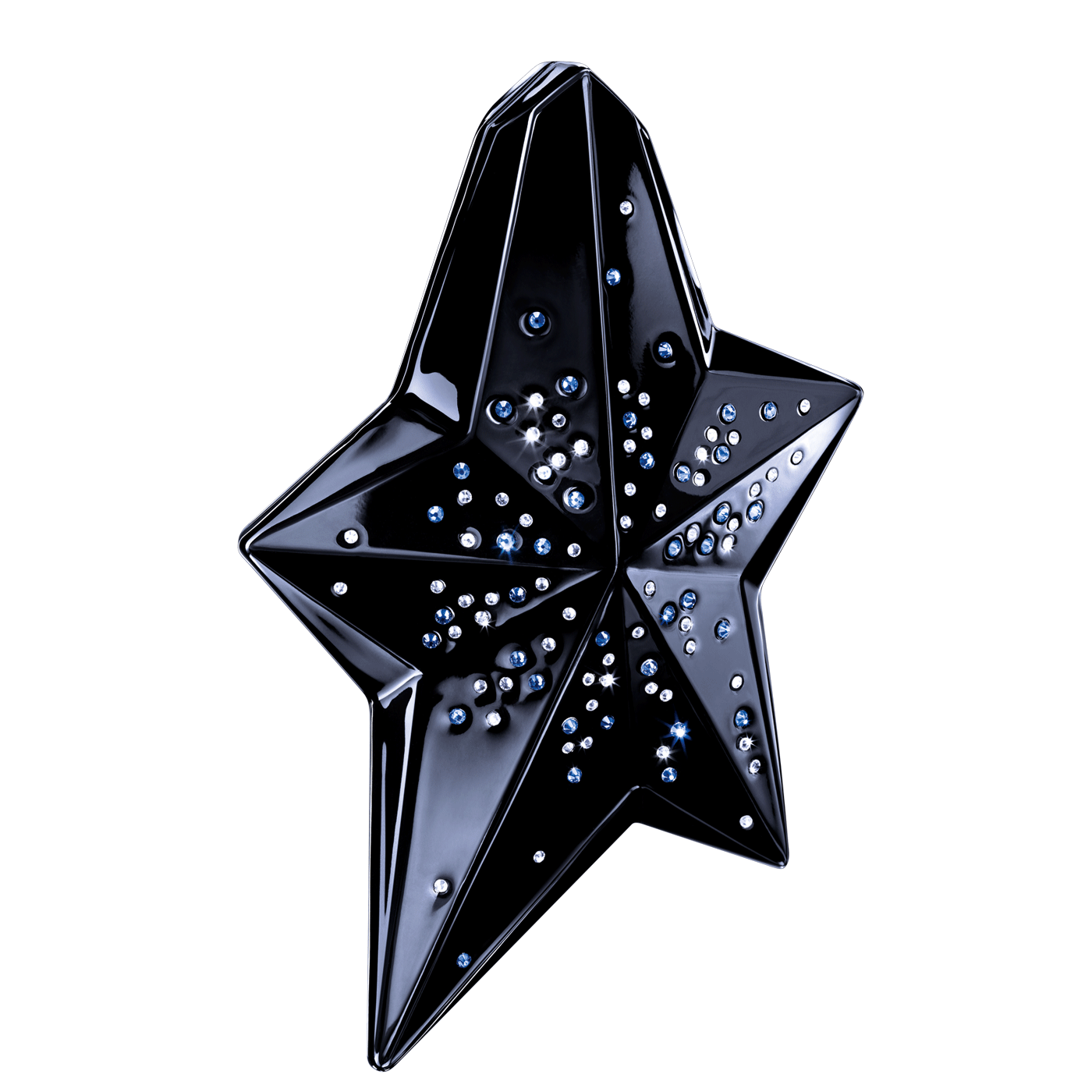 Angel Black Brilliant Star - A rousing round of applause for this dramatic star, nestled in a black case encrusted with shimmering Swarovski crystals, to protect your precious .8 fl. oz Eau de Parfum Refillable Shooting Star Spray. A celebration of spectacular style and dazzling drama!