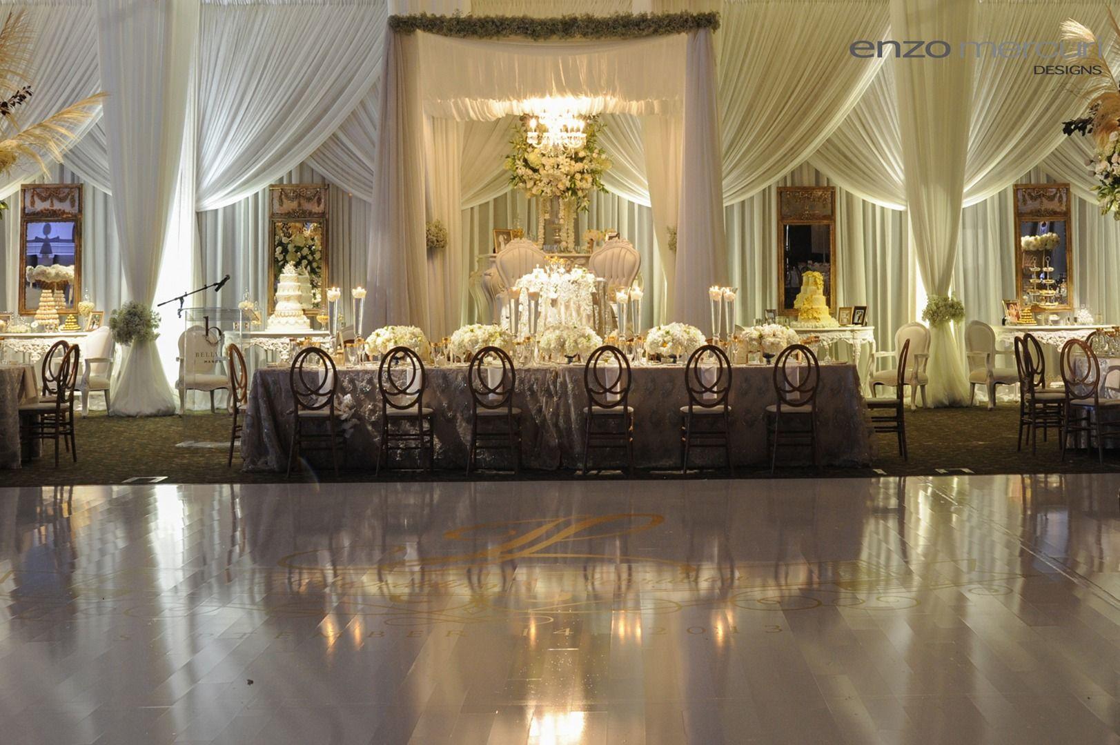 Enzo Mercuri Designs Wedding Decordrapingbackdrop Ceremonial
