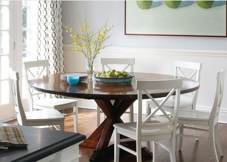 Painted Kitchen Table Centerpiece Bowls Ideas In 2020 Round Wood