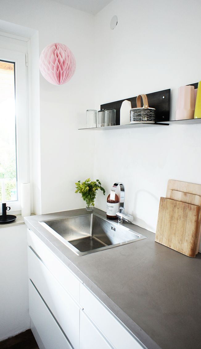 Arbeitsplatte aus Beton Cire | The Cooking Room | Pinterest | Beton ...