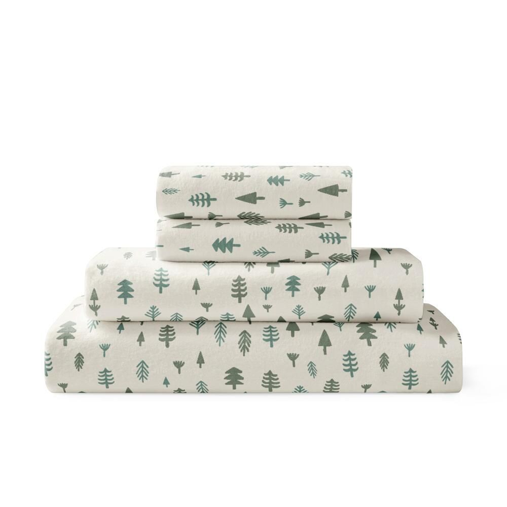 Brielle Home 4 Piece Printed Flannel Sheet Set Twin Cotton Flannel In 2020 Flannel Bed Sheets Cotton Sheet Sets 100 Cotton Sheets
