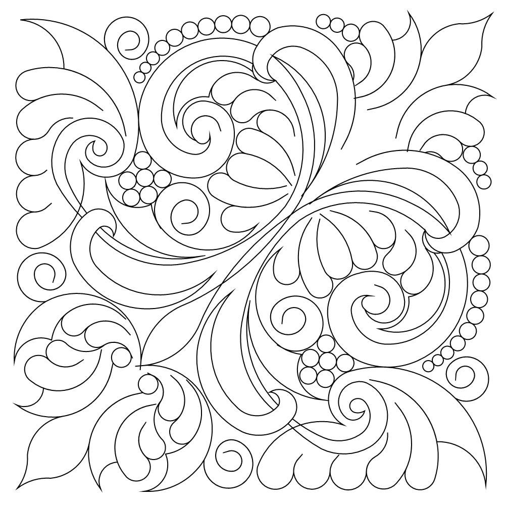Shop   Category: Blocks   Product: Victorian Feather 15 inch Block ...