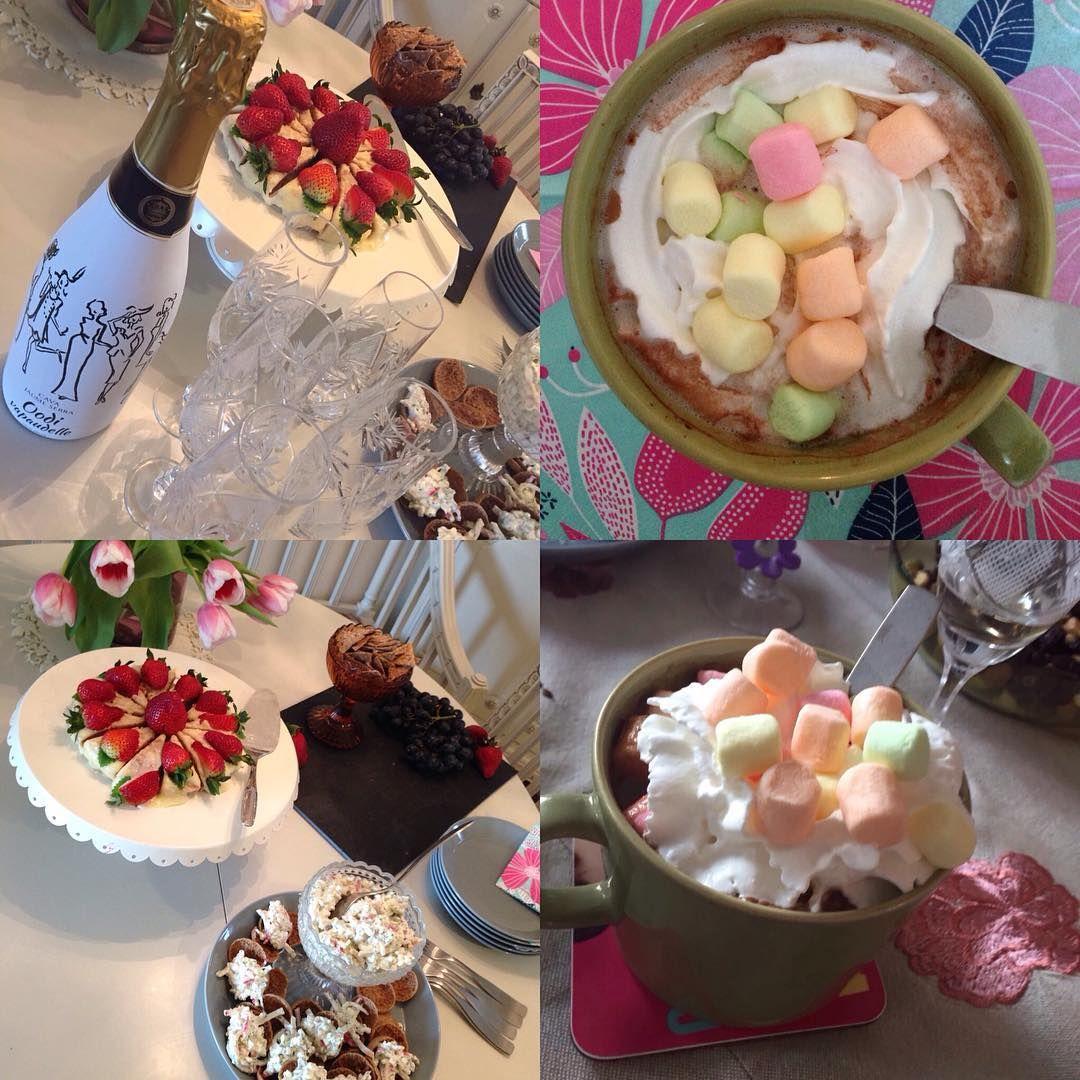 @mnkatri järjesti ihanan kaakao illan ystävilleen. #ystävät #vaahtokarkkejajakaakaota