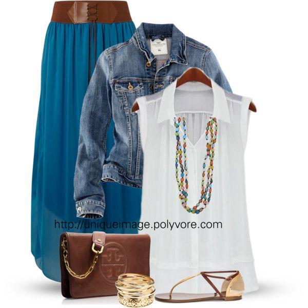 Boho Maxi Skirt By Uniqueimage Via Polyvore Fashion