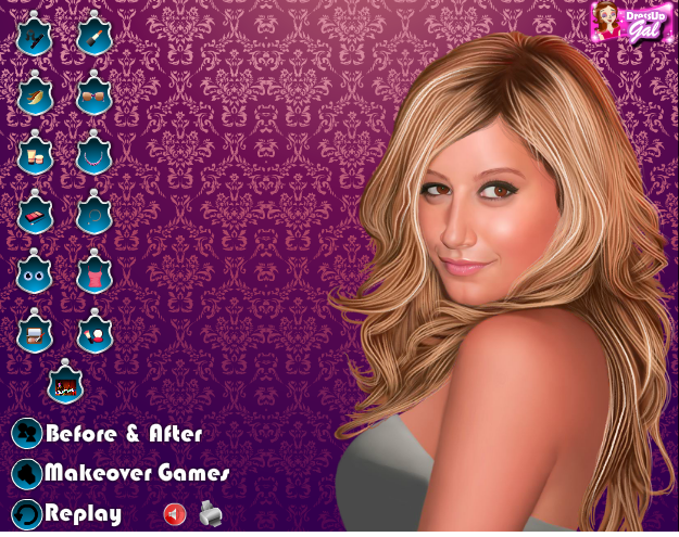 Fun makeover game for Ashley Tisdale's fans. Do a makeover