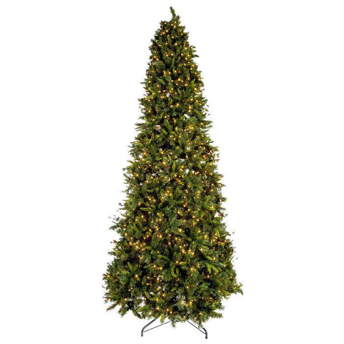 Quick Set Slim Yuletide Pine Christmas Tree - 9'   Pre lit ...
