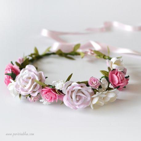 alicia couronne de roses et fleurs de cerisiers cortege mariage couronne de fleurs et honneur. Black Bedroom Furniture Sets. Home Design Ideas
