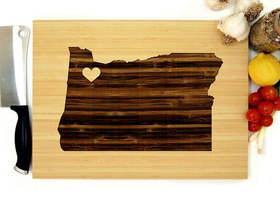 Oregon Gift Serving Tray Custom Cutting Board Personalized Board Oregon Cutting Board Engraved Board Oregon Board Wood Cutting Board