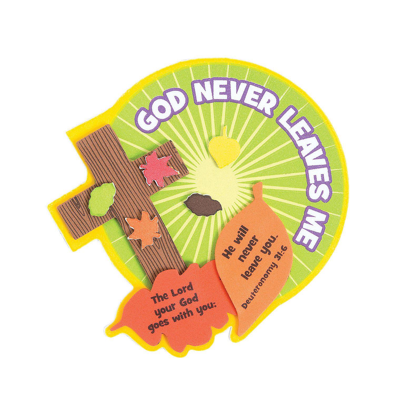 God Never Leaves Me Magnet Craft Kit