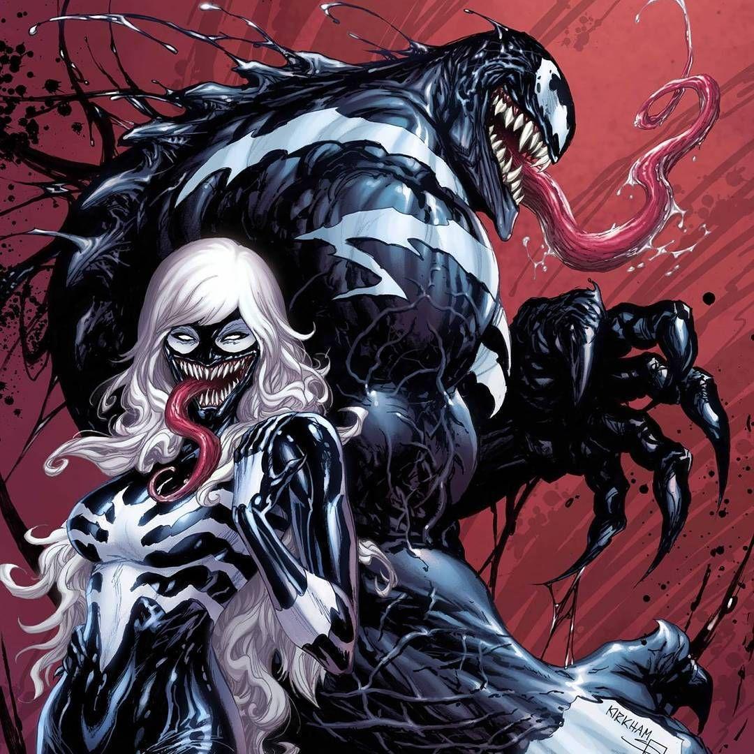 Superhero art, Venom girl, Marvel comics art