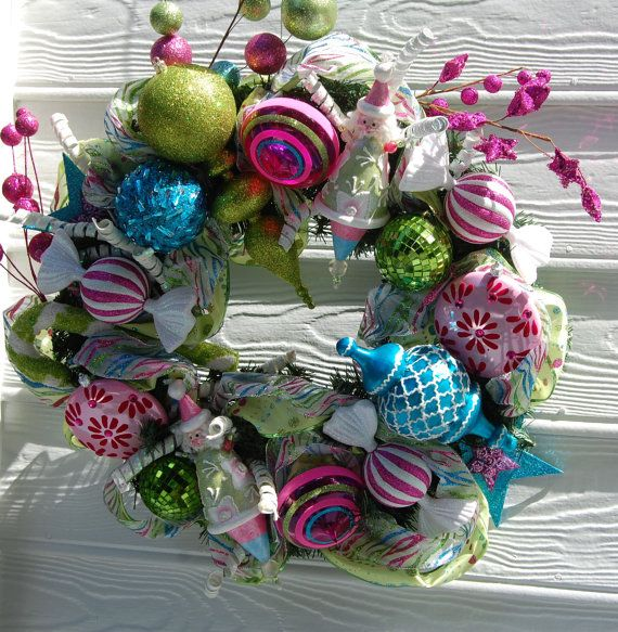 Holiday / Christmas Wreath FUN by cindyspangler on Etsy, $170.00
