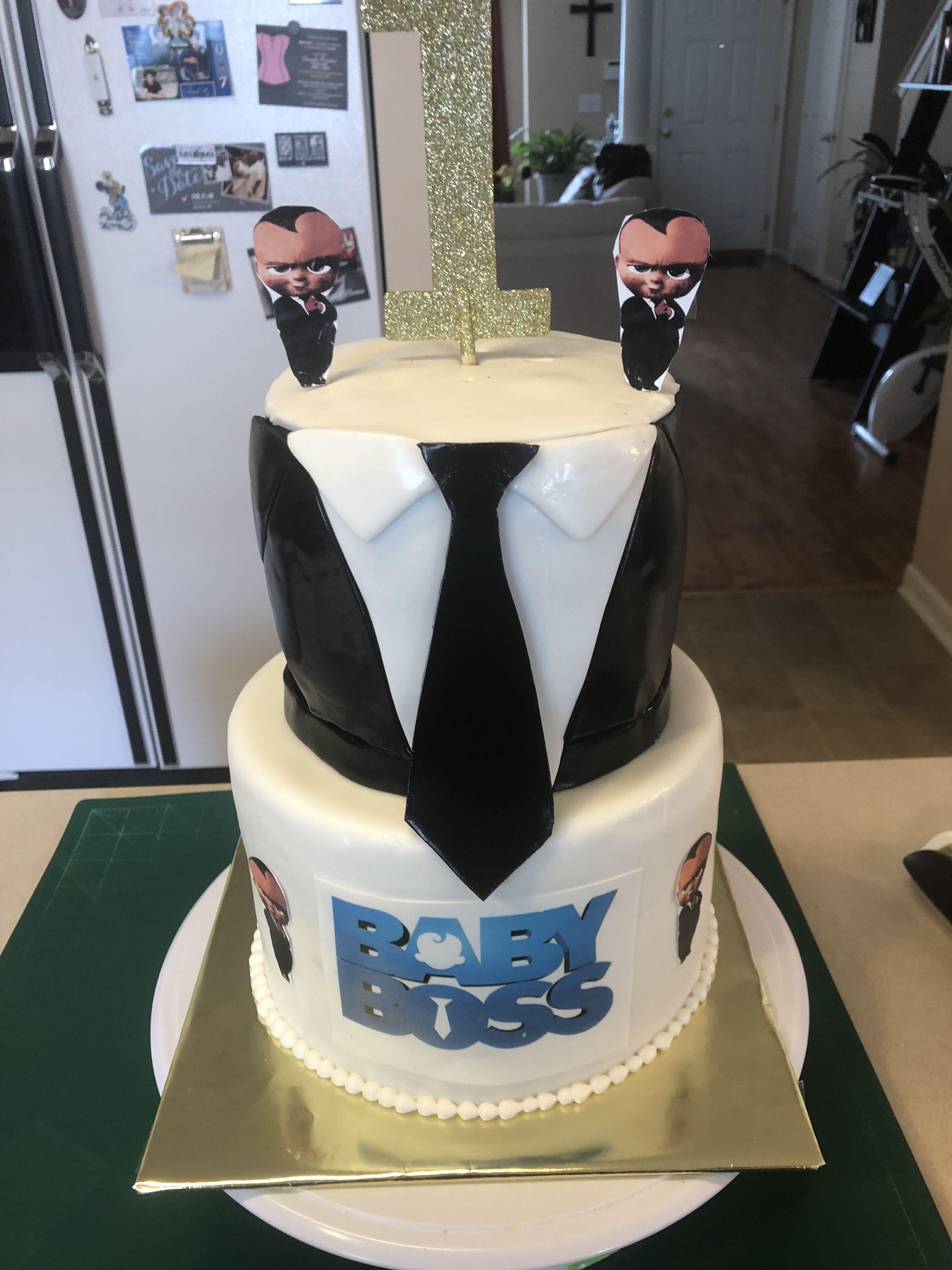 Boss Baby Cake In 2019 Baby Birthday Themes Baby Birthday