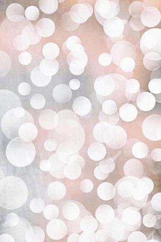 Golden Bokeh Light Circles iPhone 6 Wallpaper
