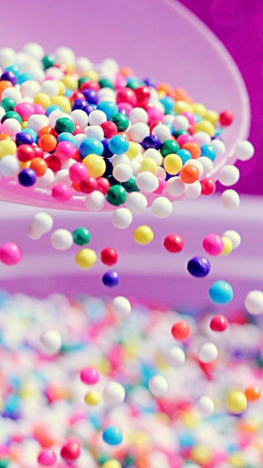 Pastel Candy Makeup Tutorial: Tumbling Colorful Candy Ball #iPhone #6 #plus #wallpaper