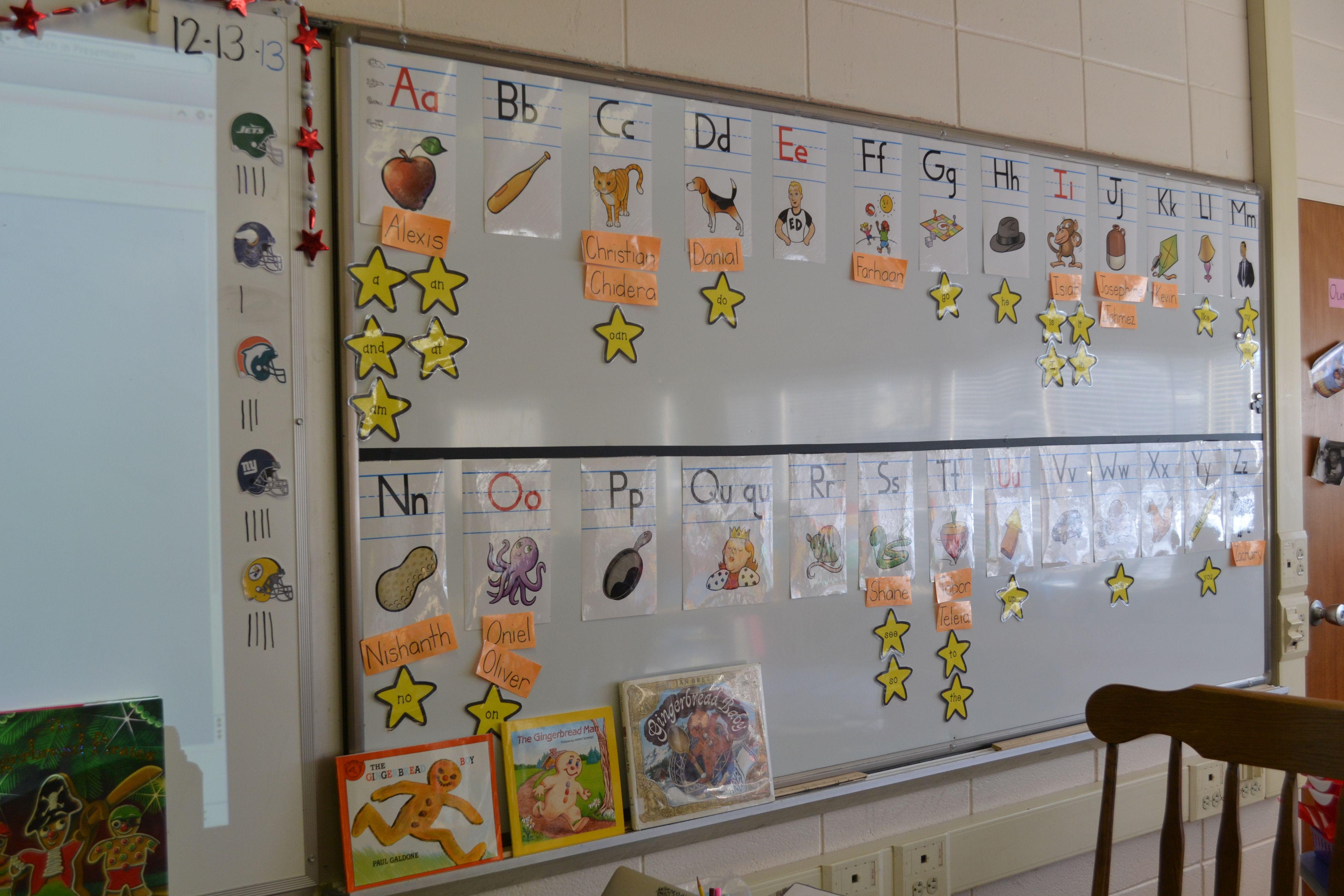 Kindergarten Word Wall Fundations
