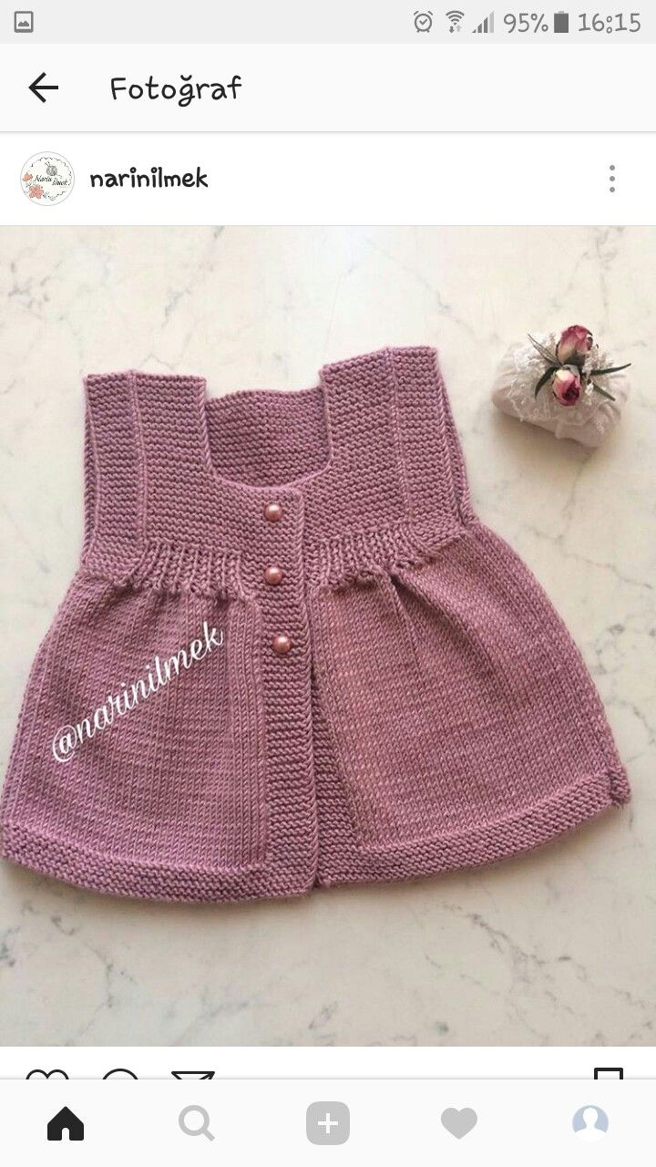 Pin by Muberra Gulacti on Yelek   Pinterest   Baby knitting, Crochet ...