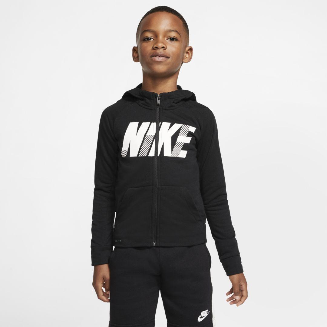 Nike Dri Fit Little Kids Full Zip Hoodie Nike Cloth Nike Dri Fit Full Zip Hoodie Black Hoodie [ 1080 x 1080 Pixel ]
