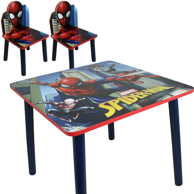Spiderman Sitzgruppe Toller Kindertisch Mit Stuhlen Fur