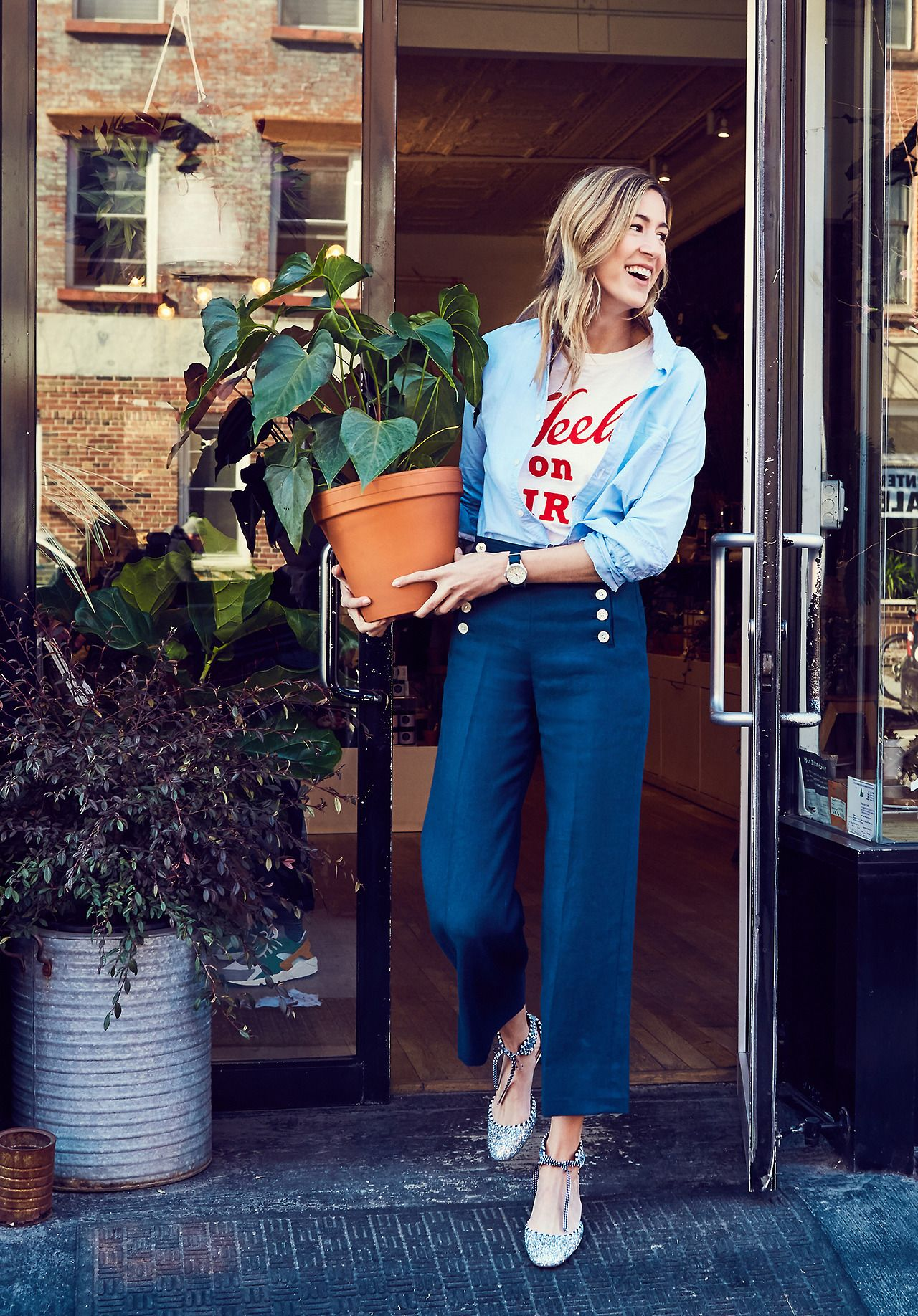 a247519a819 How It s Done  The Sailor Pant Even when you have legs for days—like our  in-house marketing maven Jenny—finding the right pair of pants can be  tricky.