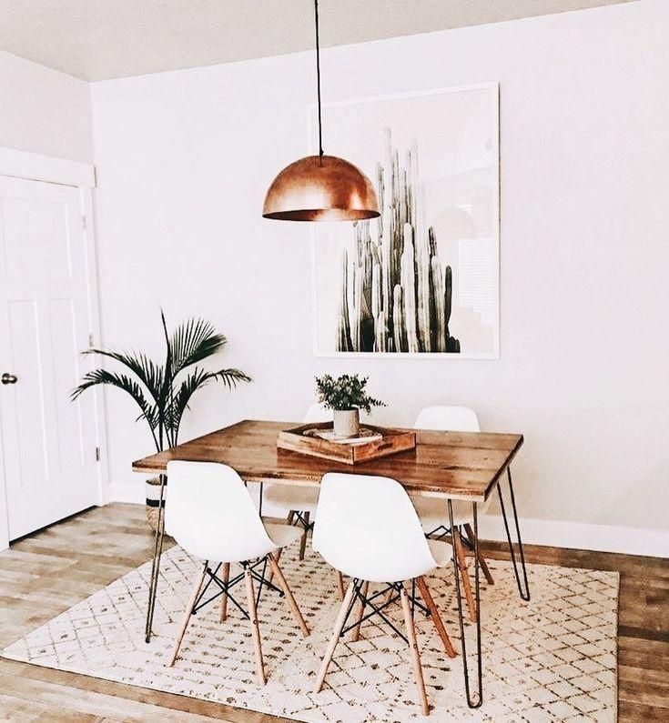 Wunderschöne 38 moderne minimalistische Esszimmer Dekor für Space Saver homiku.com #diningrooms