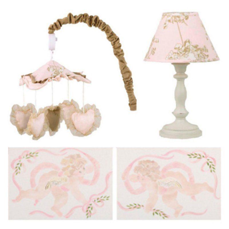 Cotton Tale Designs Lollipops and Roses 4 Piece Nursery Décor Set - LRDK