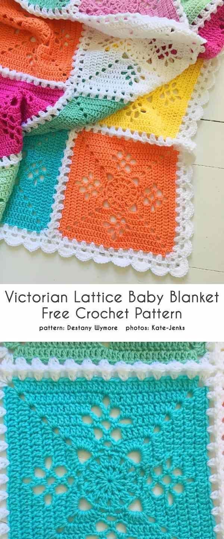 Victorian Lattice Baby Blanket Free Crochet Pattern