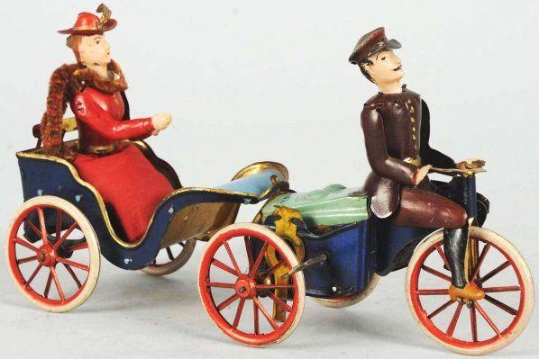 Tin Litho Lehmann Anxious Bride Wind-Up Toy.