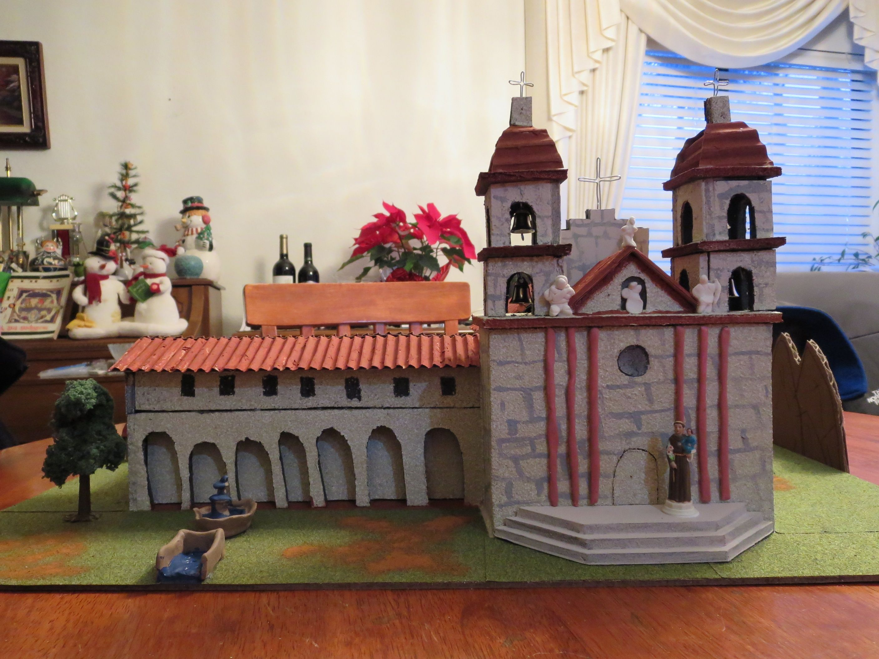 the queen of the missions: mission santa barbara model | school