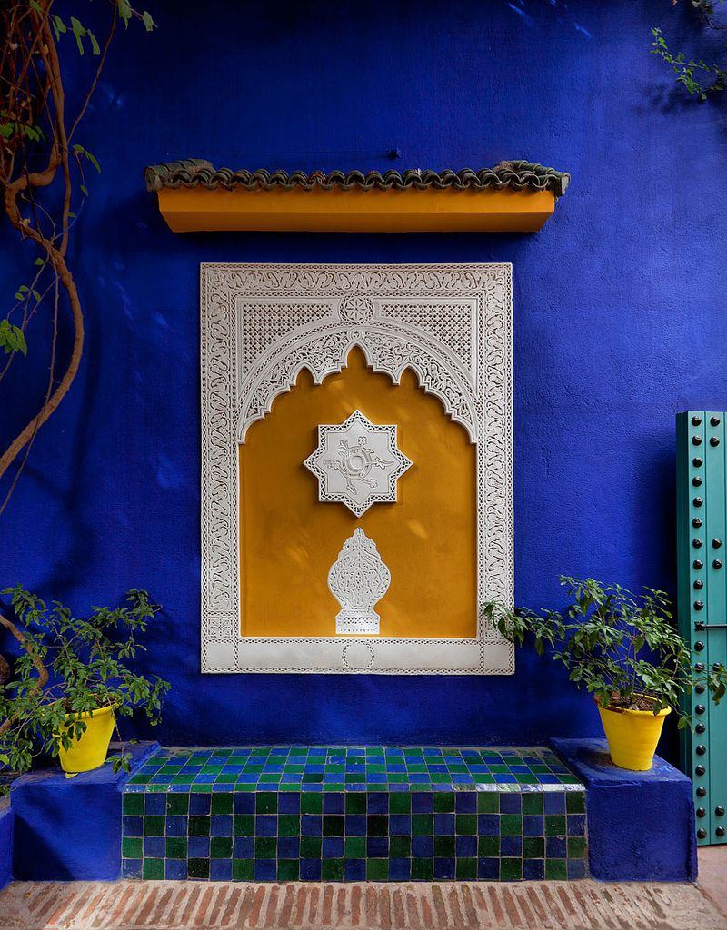 villa majorelle marrakech morocco hus inredning och inspiration. Black Bedroom Furniture Sets. Home Design Ideas
