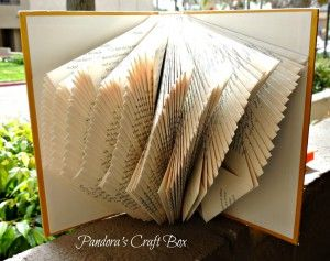 book page folding art, book page folding tutorial, book page folding, folding book pages,  book folding, DIY,