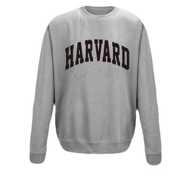Funny sweatshirt harvard students pullover hip hop