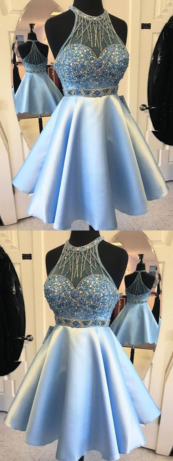 Customized suitable short homecoming dresses blue homecoming