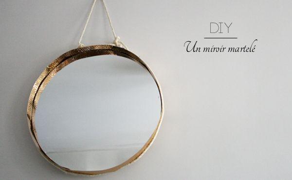 diy un miroir de barbier en m tal martel diy do it yourself pinterest barbier miroirs. Black Bedroom Furniture Sets. Home Design Ideas