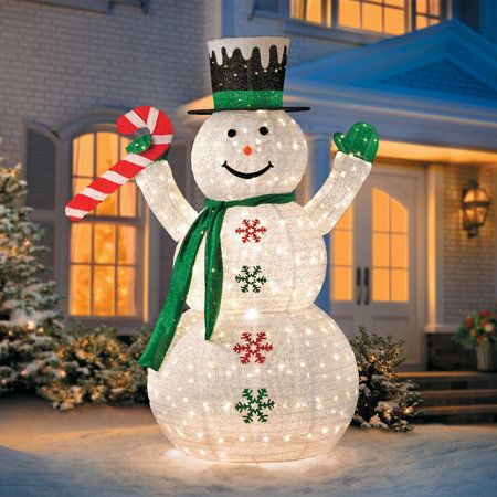6\u0027 Collapsible Snowman LED Outdoor Christmas Decoration Xmas - outdoor snowman christmas decorations