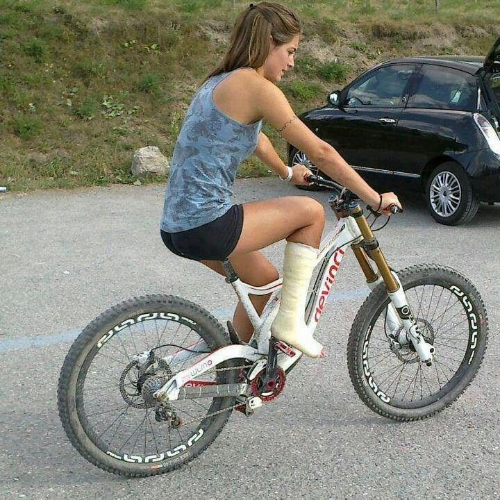 Biking mountain girls sexy in
