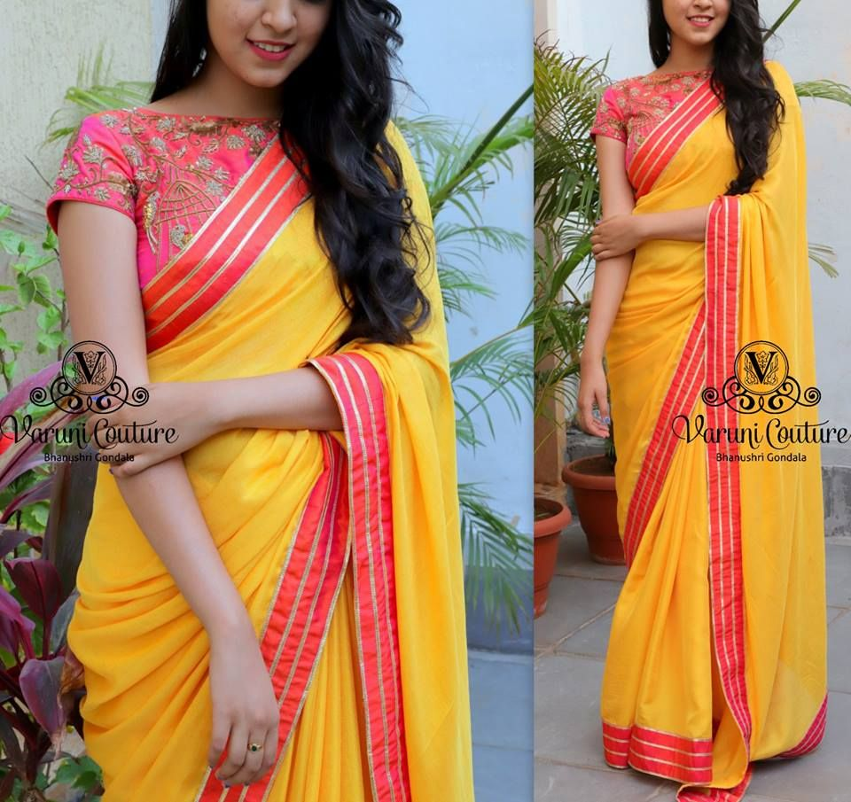 c267ff716450eb Style Plain Saree with Embroidery Blouse – 17 Chic Ideas!