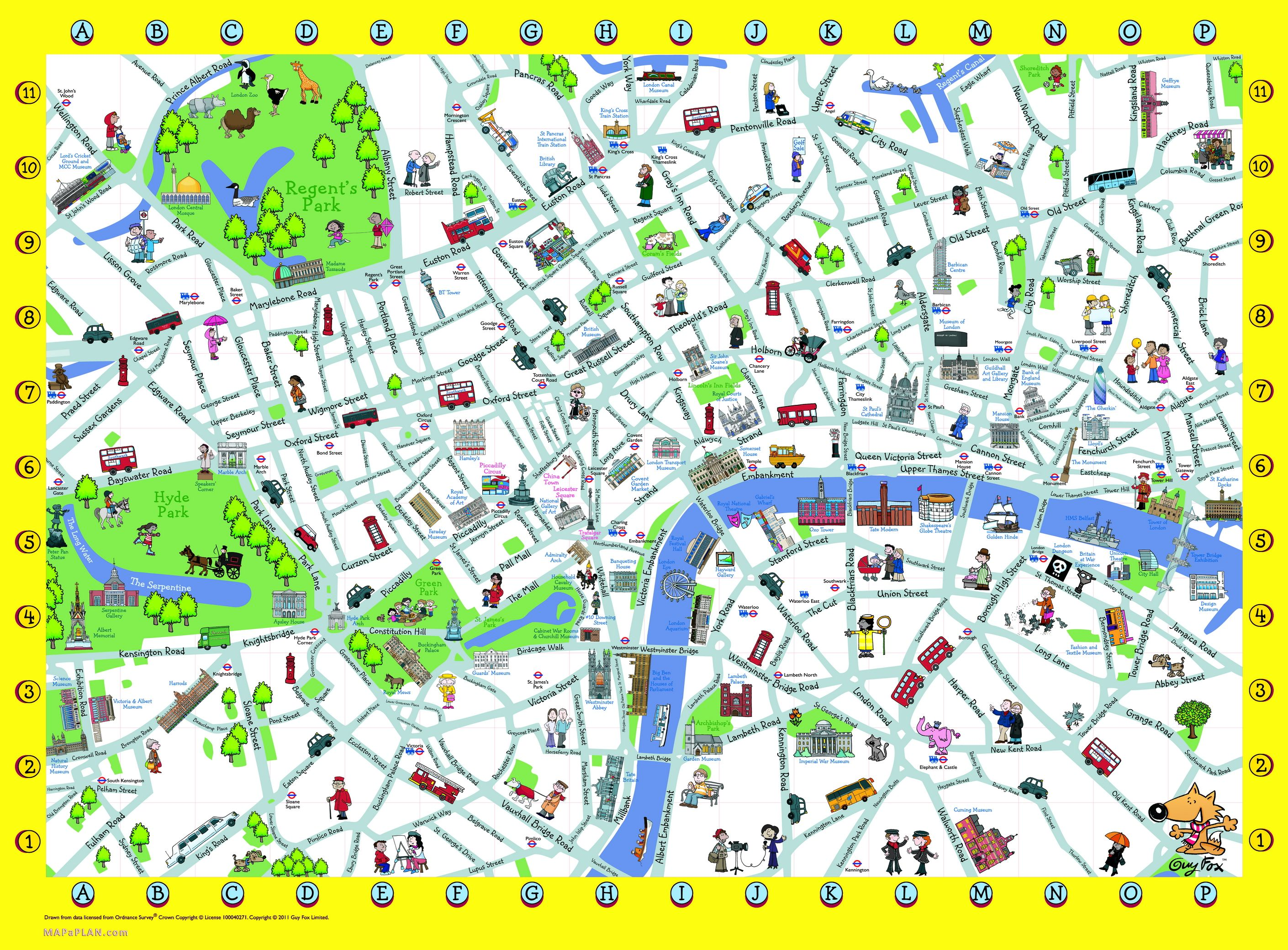 London Detailed Landmark Map