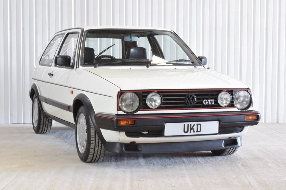Vw Volkswagen Golf Gti Mk2 1 8 8v White 3dr 1989 Volkswagen Golf