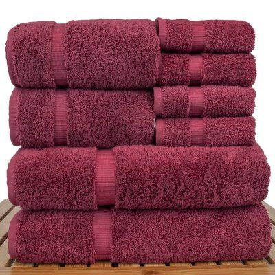 Bare Cotton Luxury Hotel and Spa 8 Piece Towel Set Color: