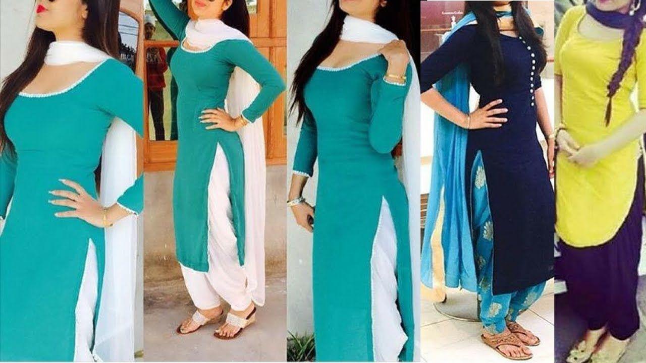 063d3c441e Daily wear simple Punjabi suit design ideas for college and office | Sim.