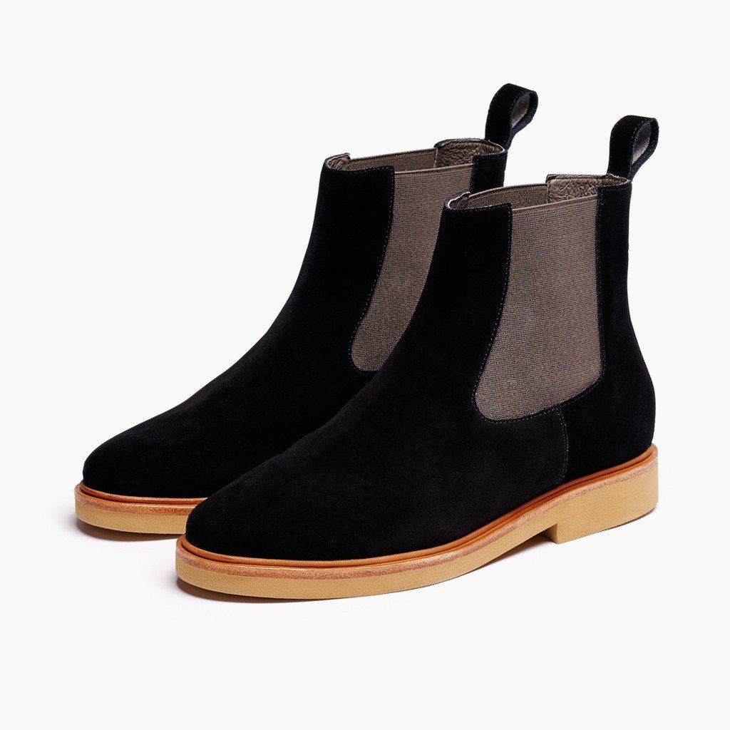 e1a8e2c75c754 Women s Chelsea Boot BlackHobes Shoes Footwear Flats Boots Leather Suede  Colour Womens Fall Boots